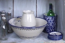 Click here for pricing for Cobalt Blue and White Spongeware